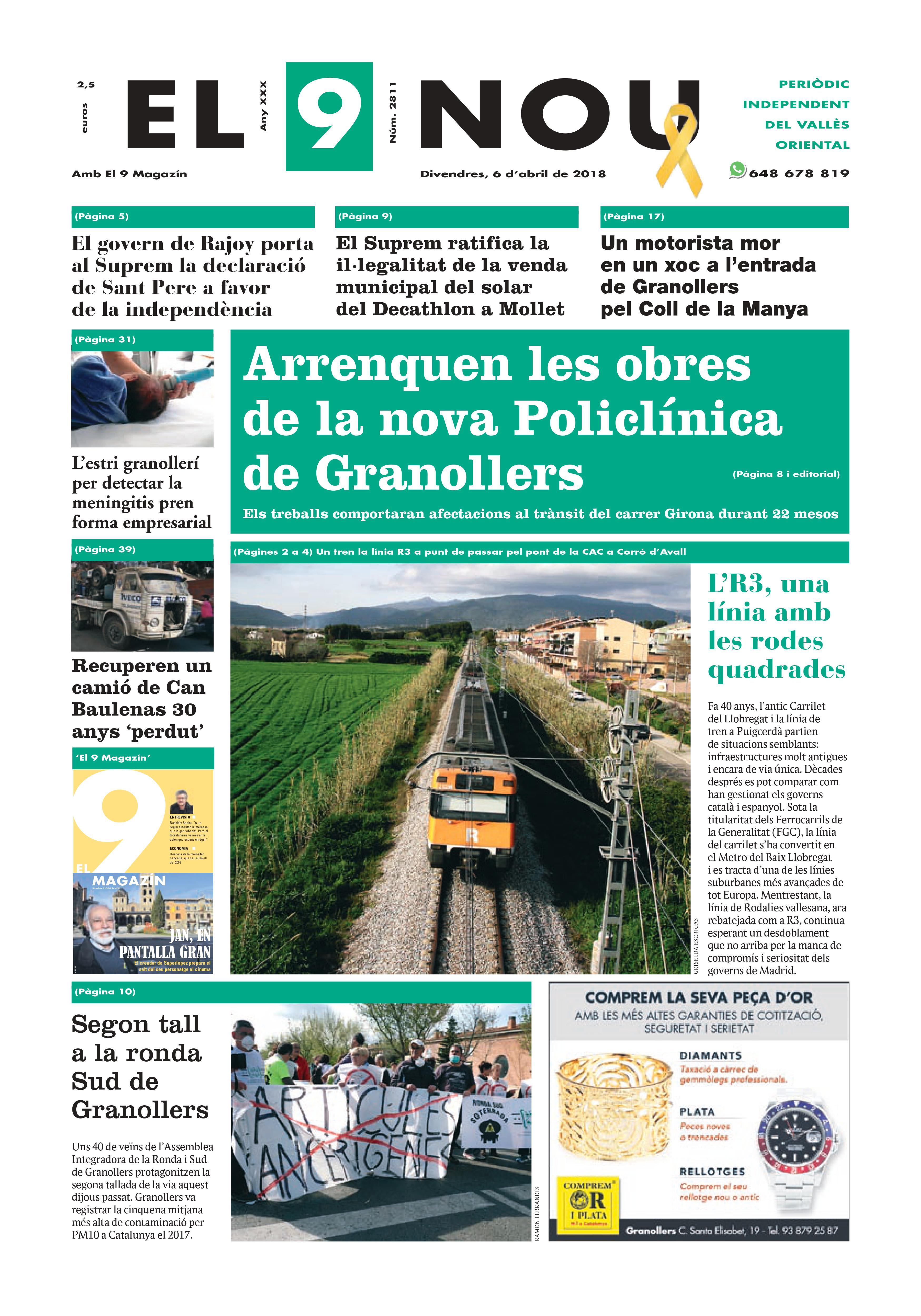Primera plana EL 9 NOU 06_04_18 Vallès