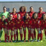 Bruna Vilamala, segona per l'esquerra a la fila de sota, forma amb la selecció espanyola