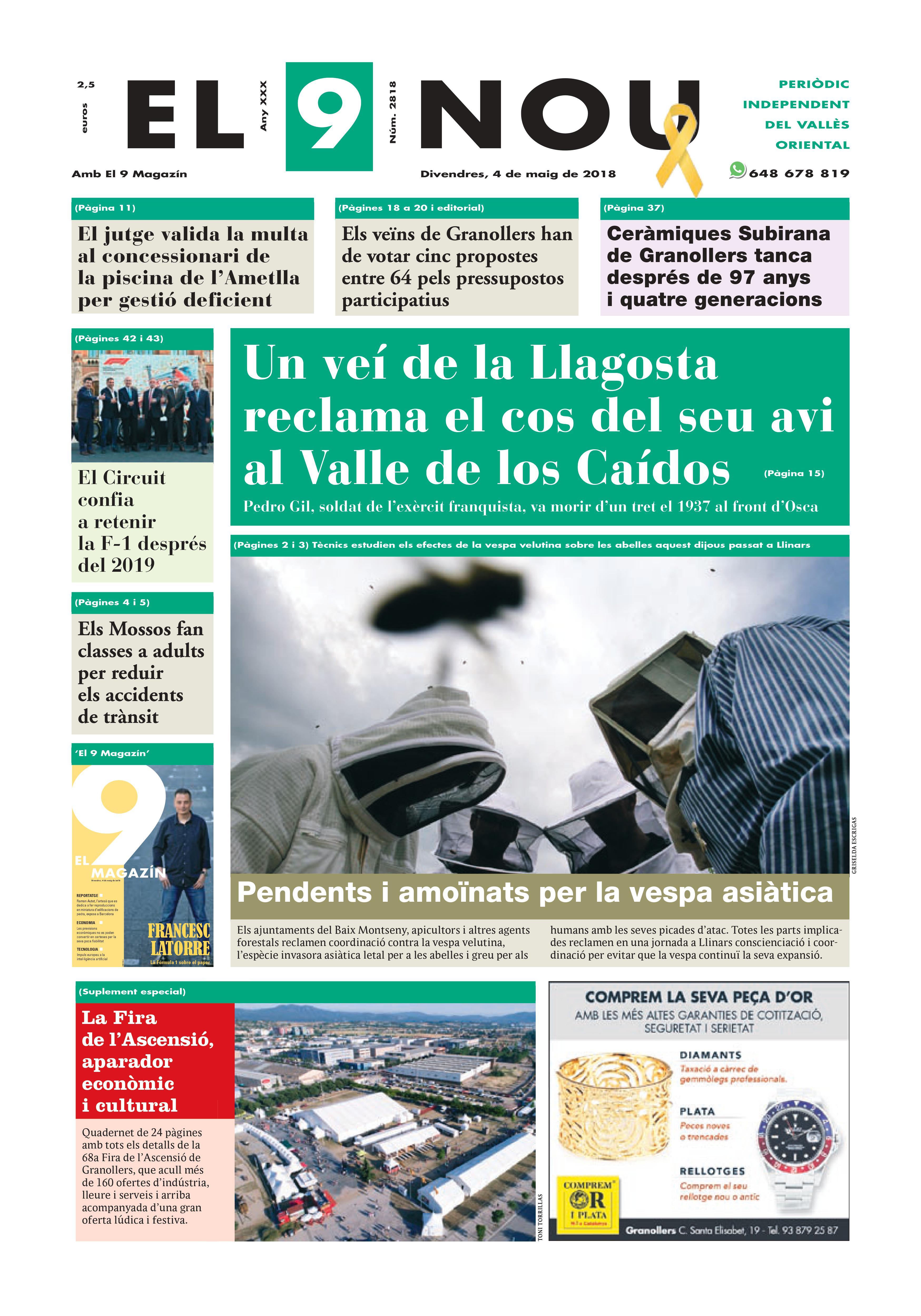Primera plana EL 9 NOU 04_05_16 Vallès