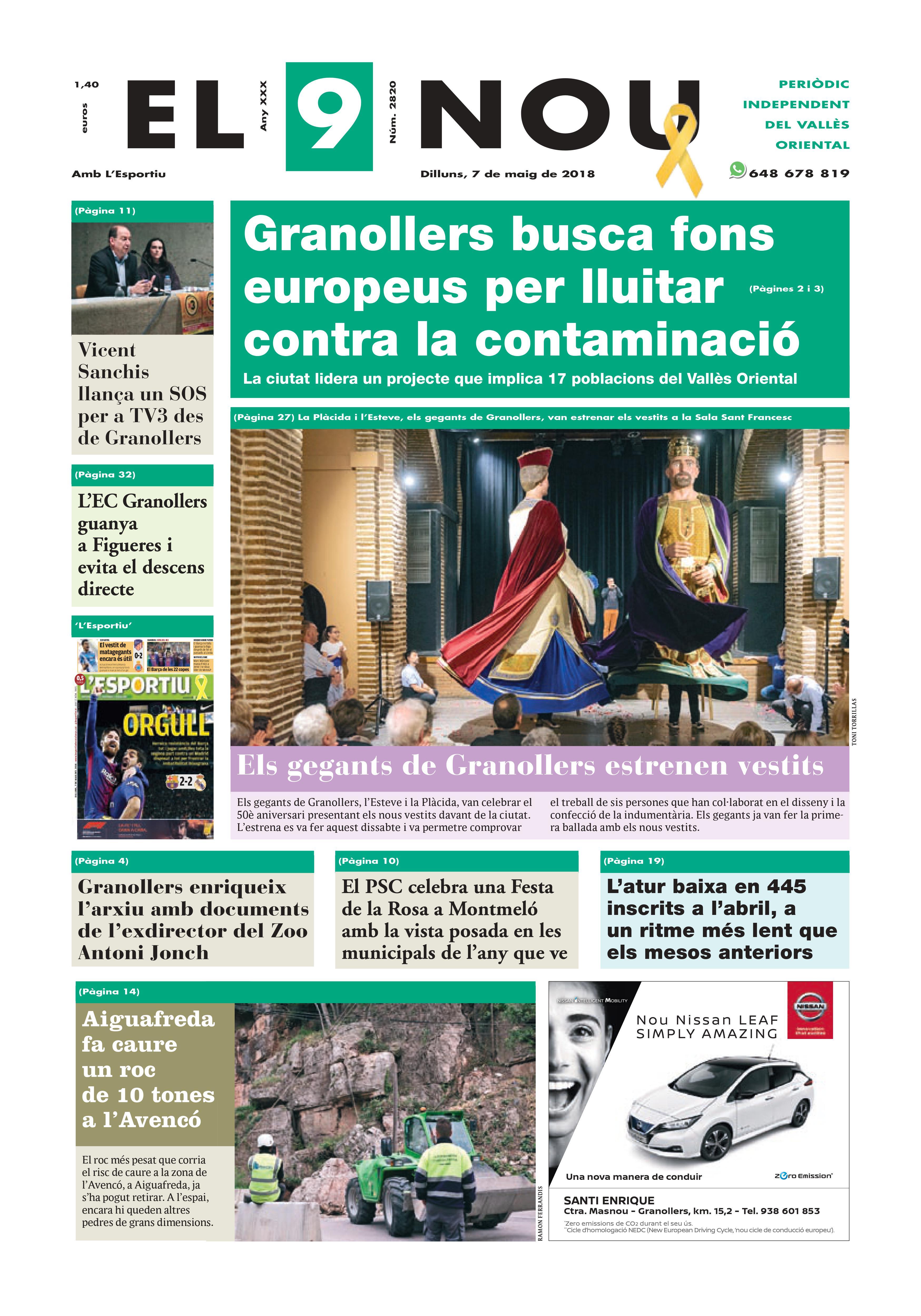 Primera plana EL 9 NOU 04_05_18 Vallès