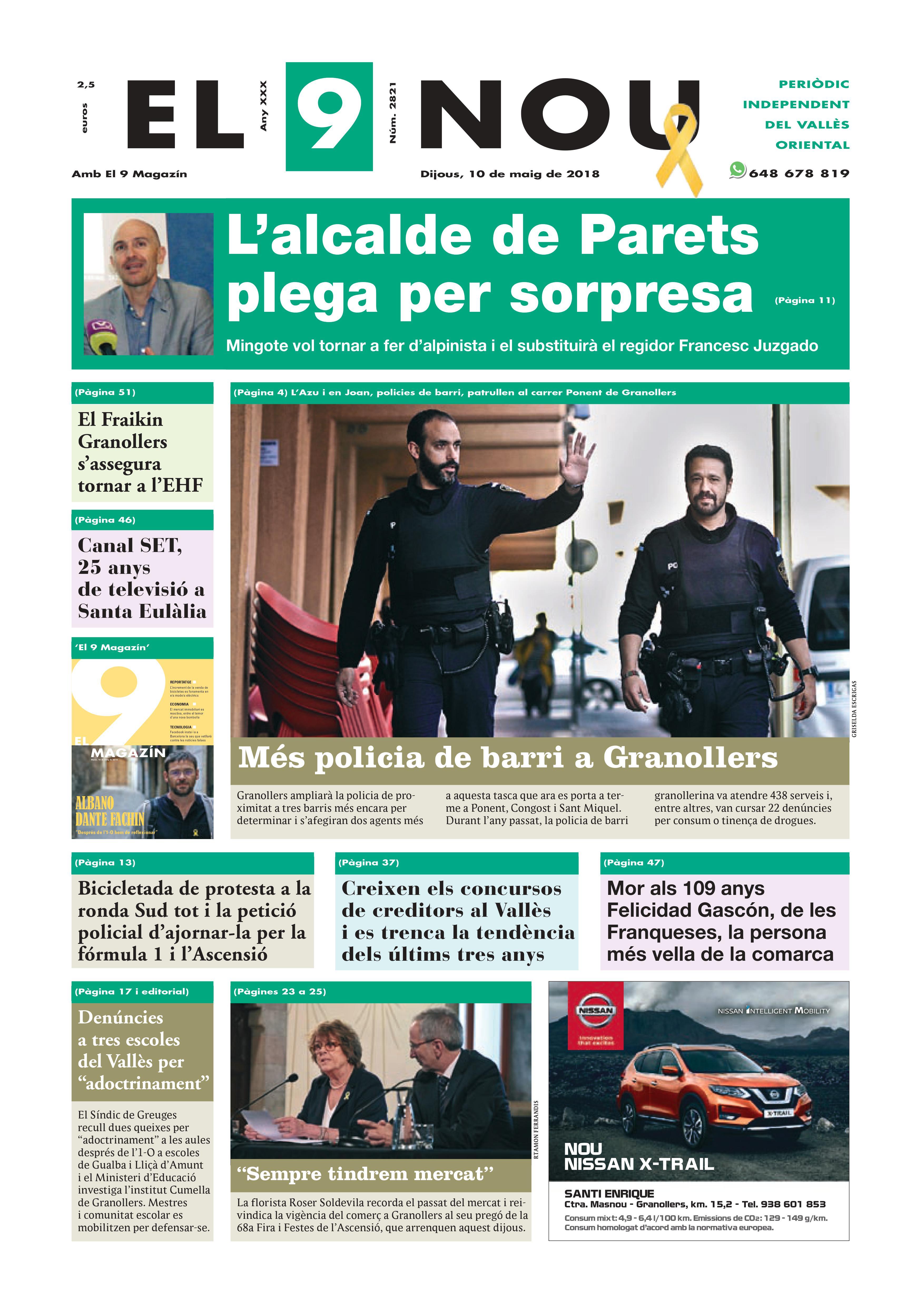 Primera plana EL 9 NOU 10_05_18 Vallès