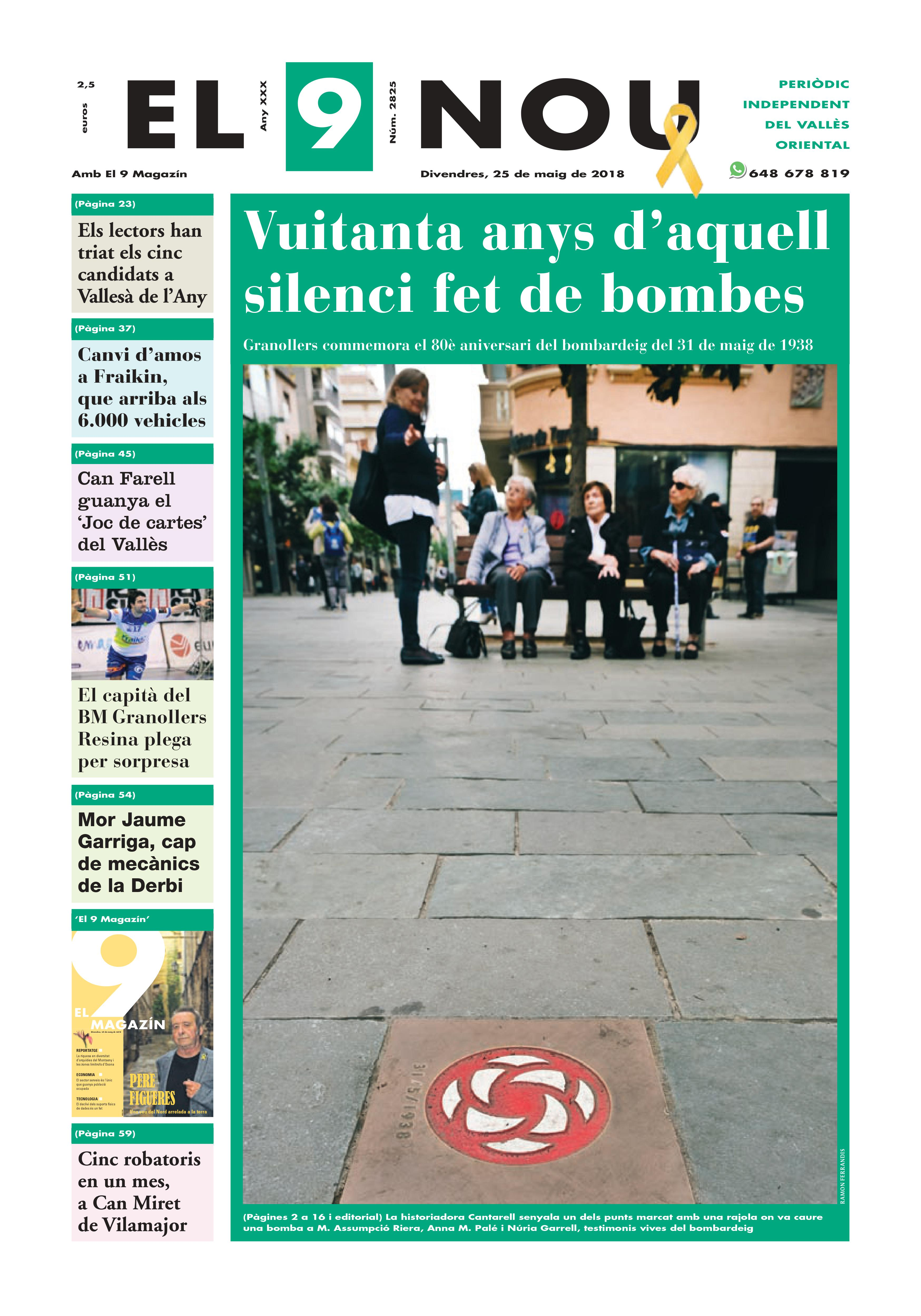 Primera plana EL 9 NOU 25_05_18 Vallès