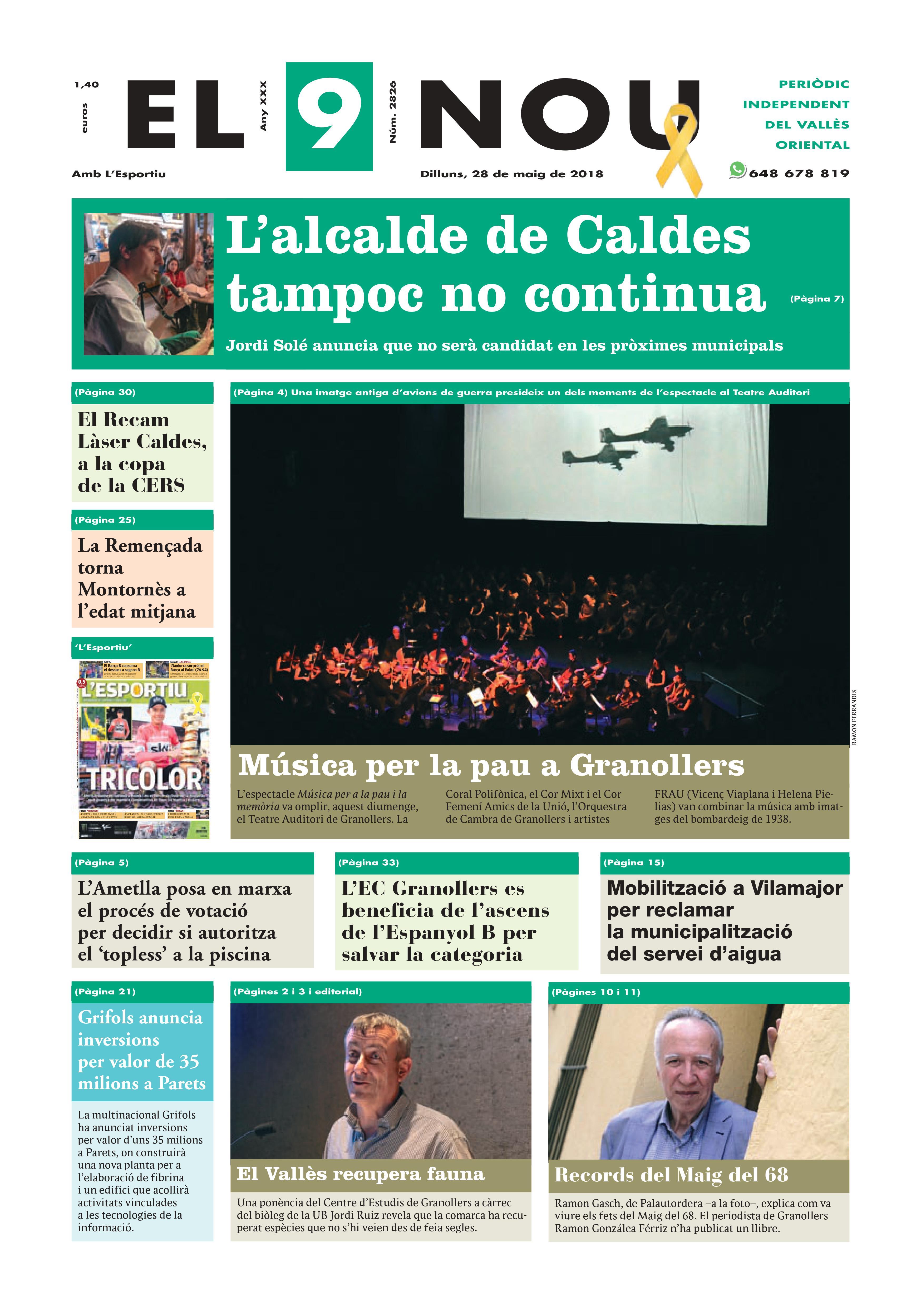 Primera plana EL 9 NOU 28_05_18 Vallès