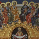 A la Segona Pasqua es recorda la vinguda de l'Esperit Sant sobre la comunitat reunida dels apòstols de Crist