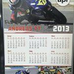 Calendari signat per Andreas Pérez