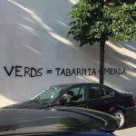 Un grafit aparegut aquesta setmana contra la colla del Merma