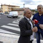 Jordi Fàbrega i Joan Riera, al punt on s'han fet les obres