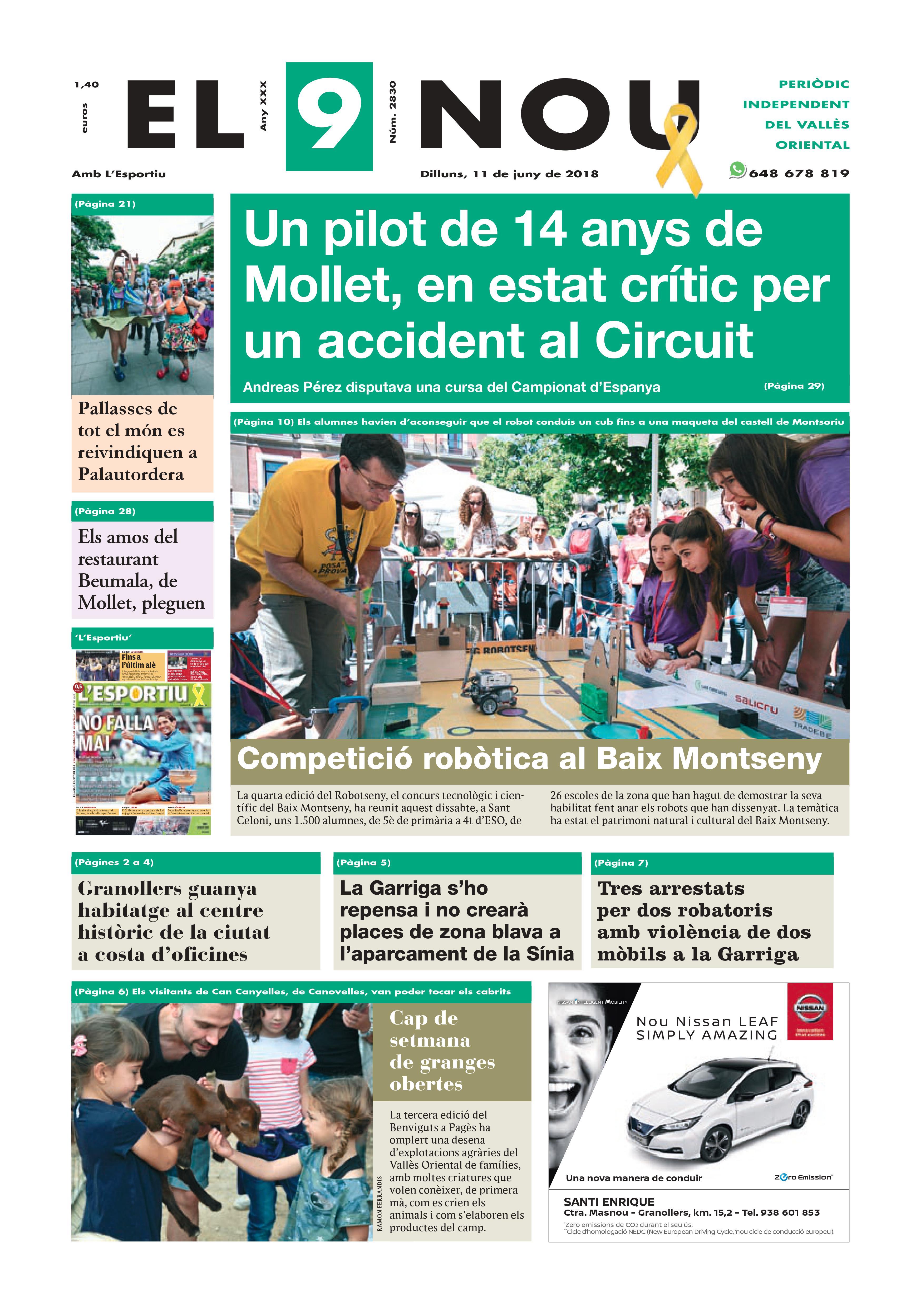 Portada Vallès Oriental 11-6-2018