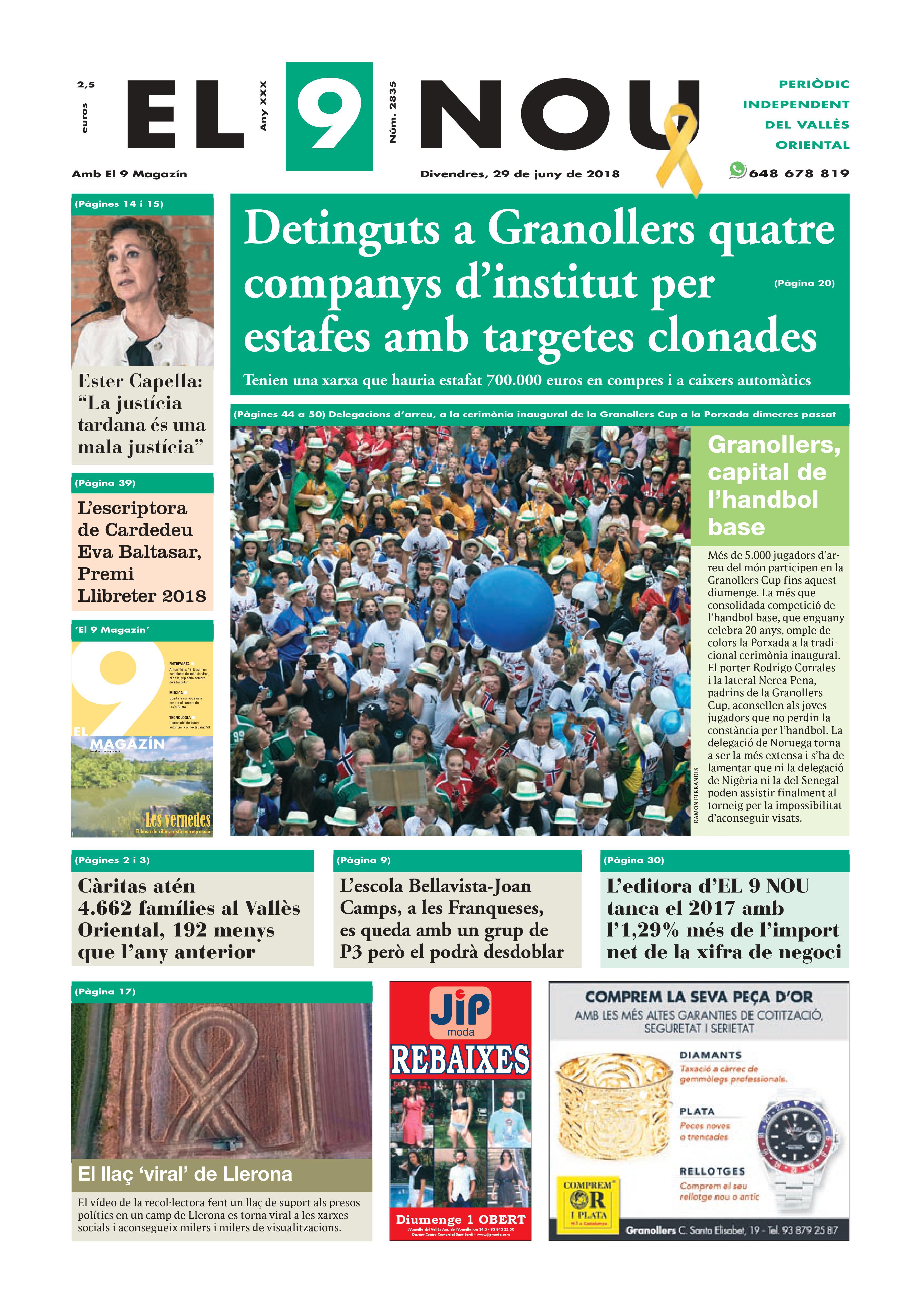 Primera plana EL 9 NOU 29_06_18 Vallès