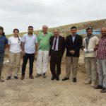 Visita del director general d'antiguitats del Kurdistan a l'excavació amb els arqueòlegs osonencs