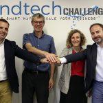 lbert Siré, director d'Innovació de Seidor; Pere Girbau, CEO de Girbau Group; Mariona Sanz, directora de Girbau Lab, i Eduard Farga, director general adjunt de Seidor