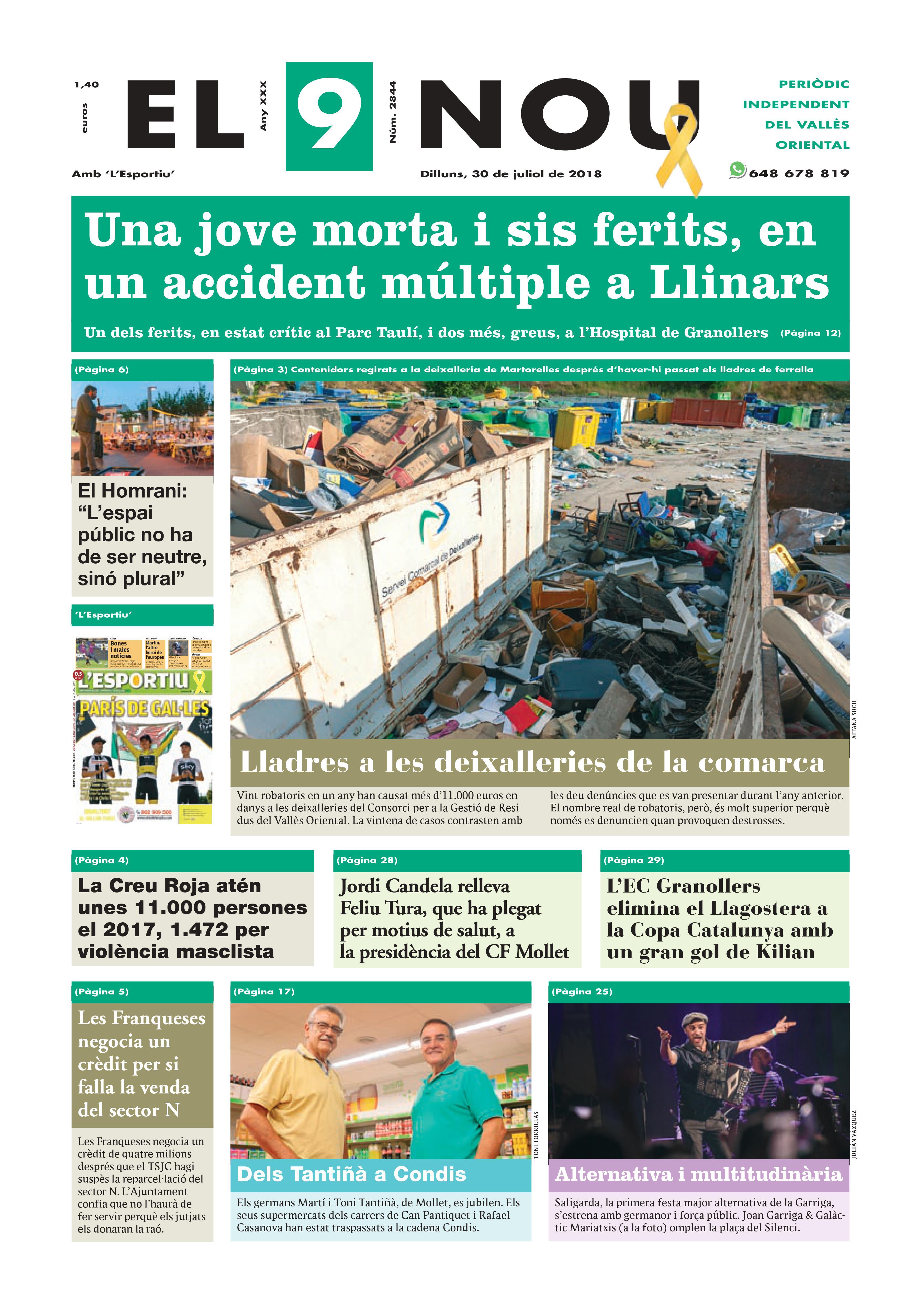 Primera plana EL 9 NOU 30_07_18 Vallès