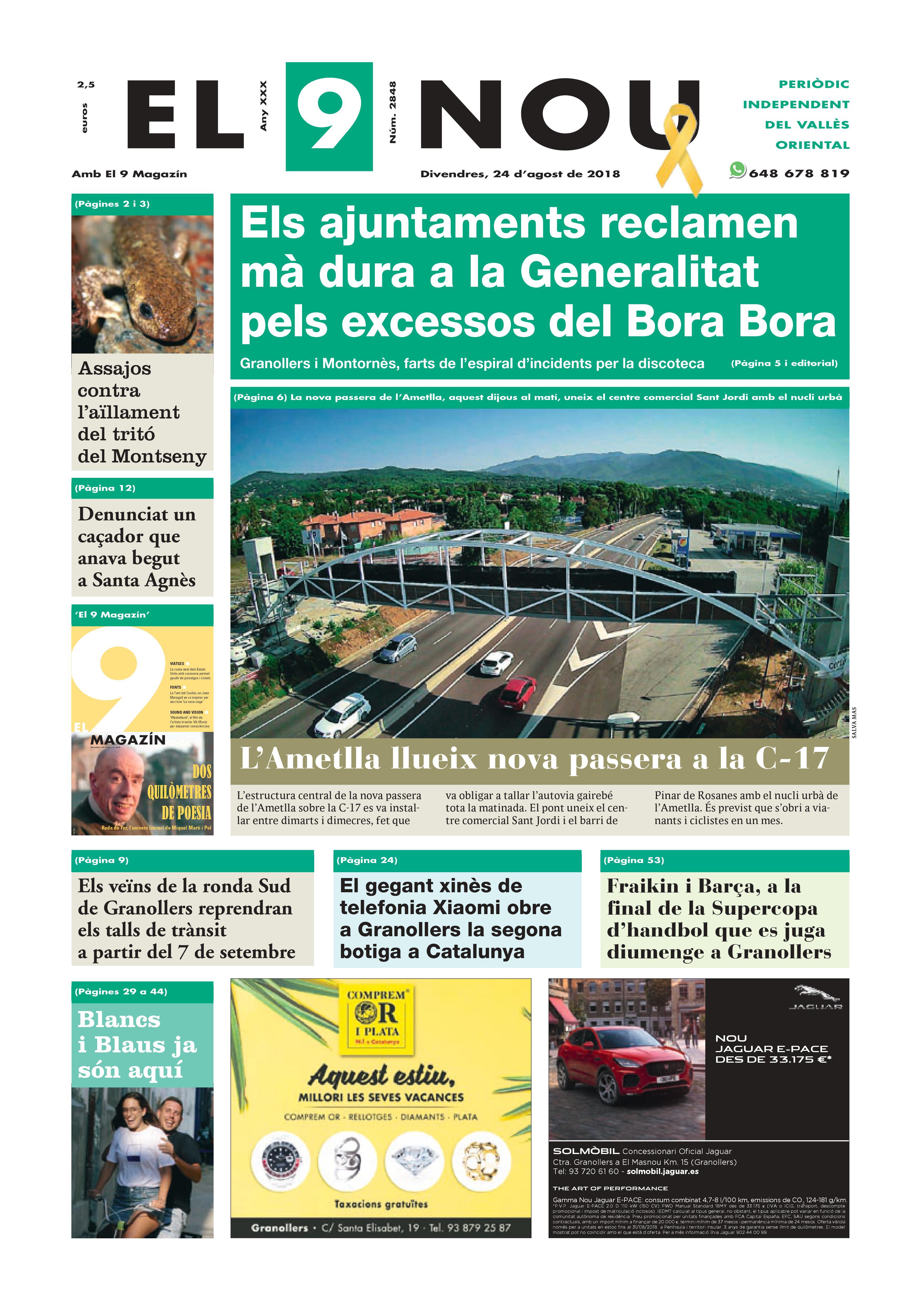 Primera plana EL 9 NOU 24_08_18 Vallès