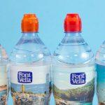 Ampolles de Font Vella amb els taps de colors