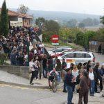 Cua per votar l'1 d'octubre a Sant Miquel de Balenyà