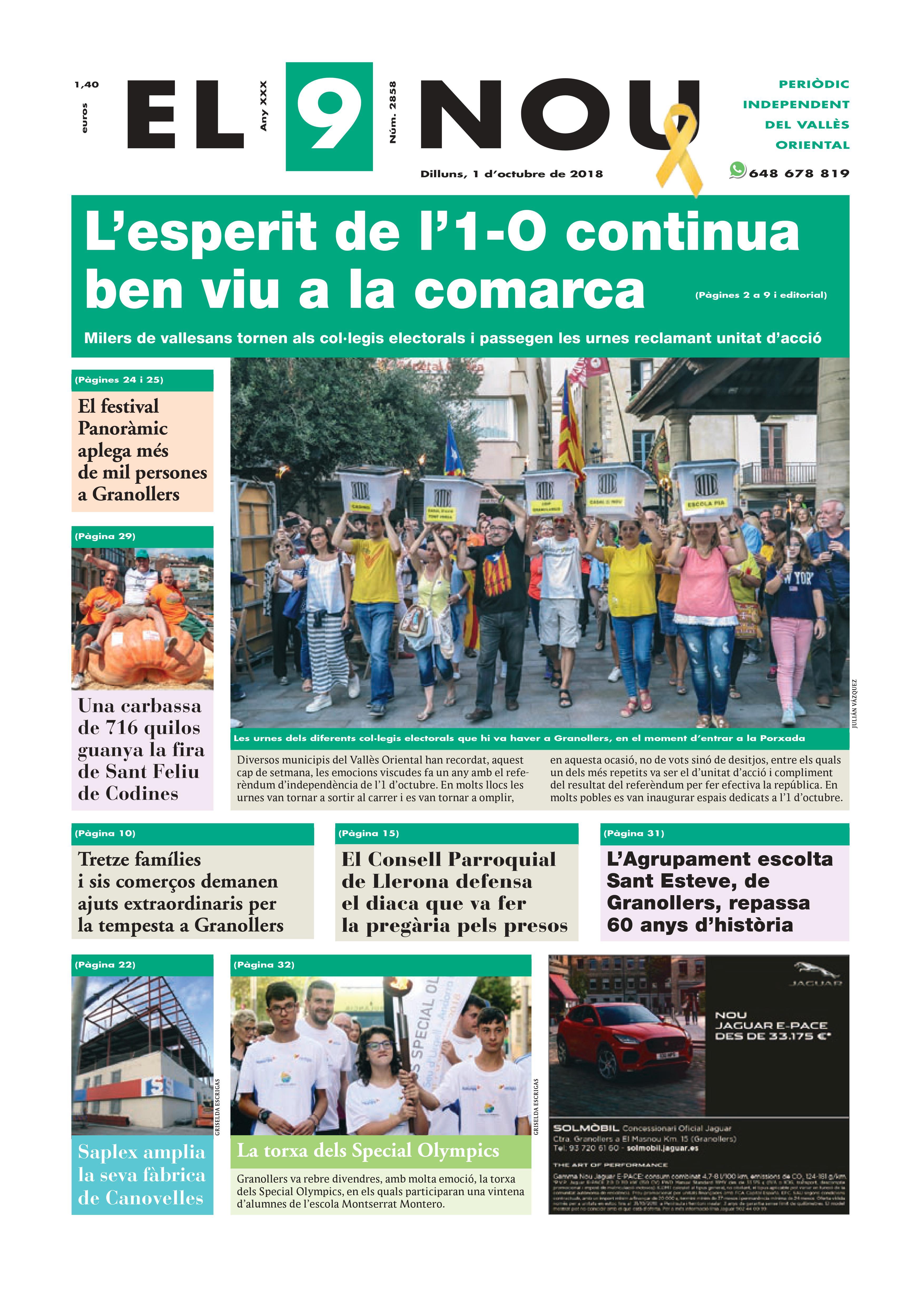 Primera Plana 01_10_18 Vallès