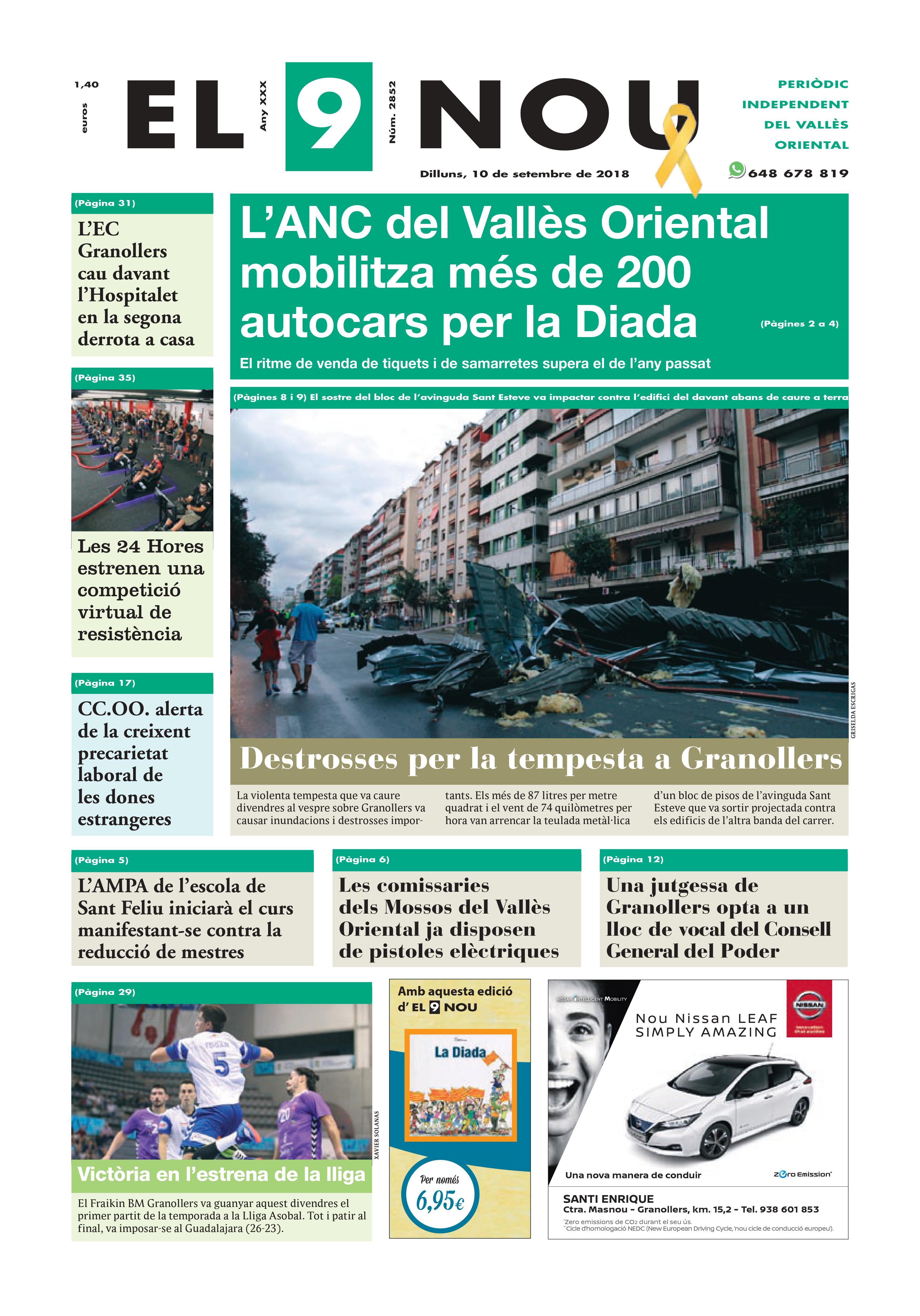 Primera Plana EL 9 NOU 10_09_18 Vallès