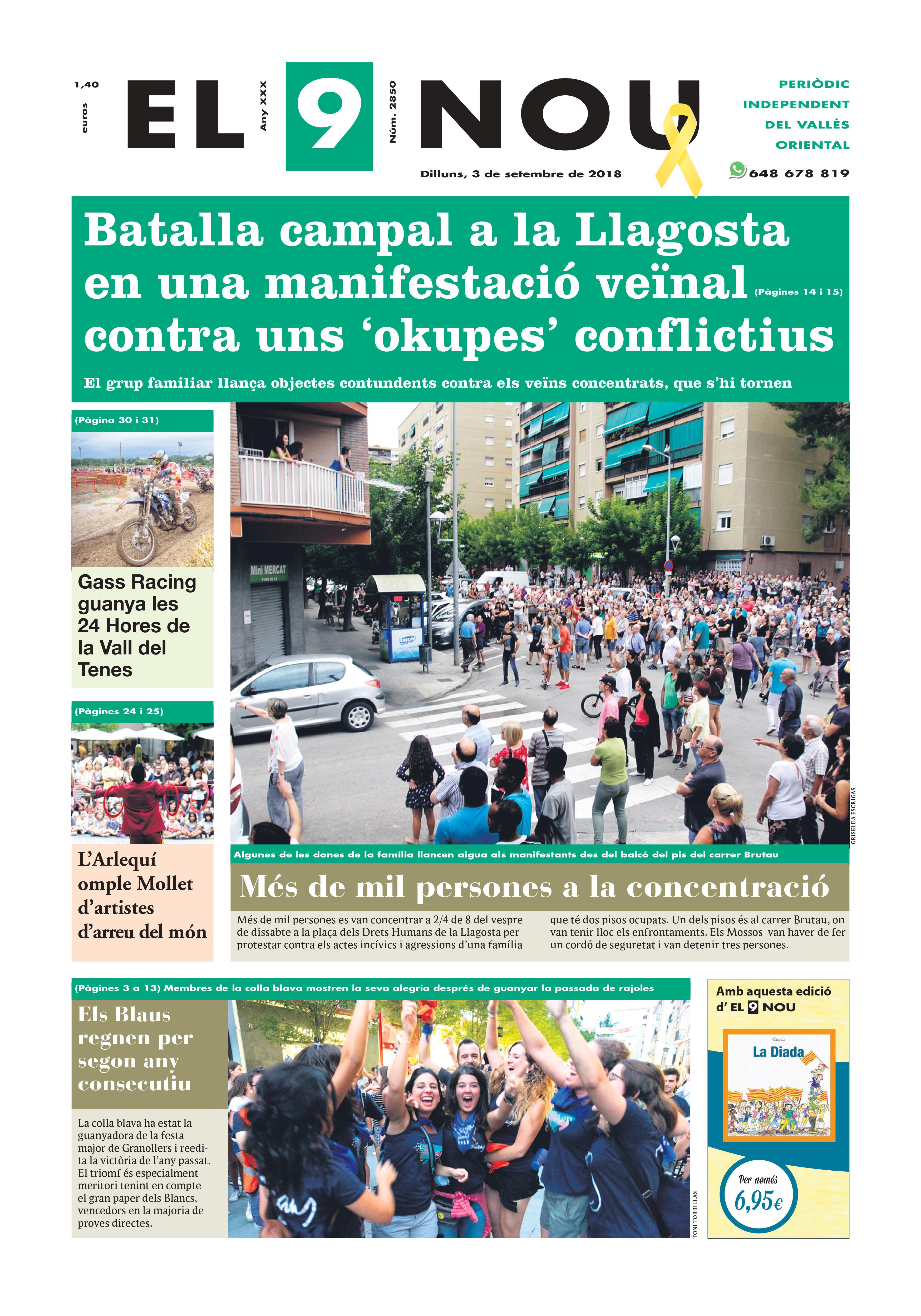Primera Plana El 9 NOU 03_09_18 Vallès