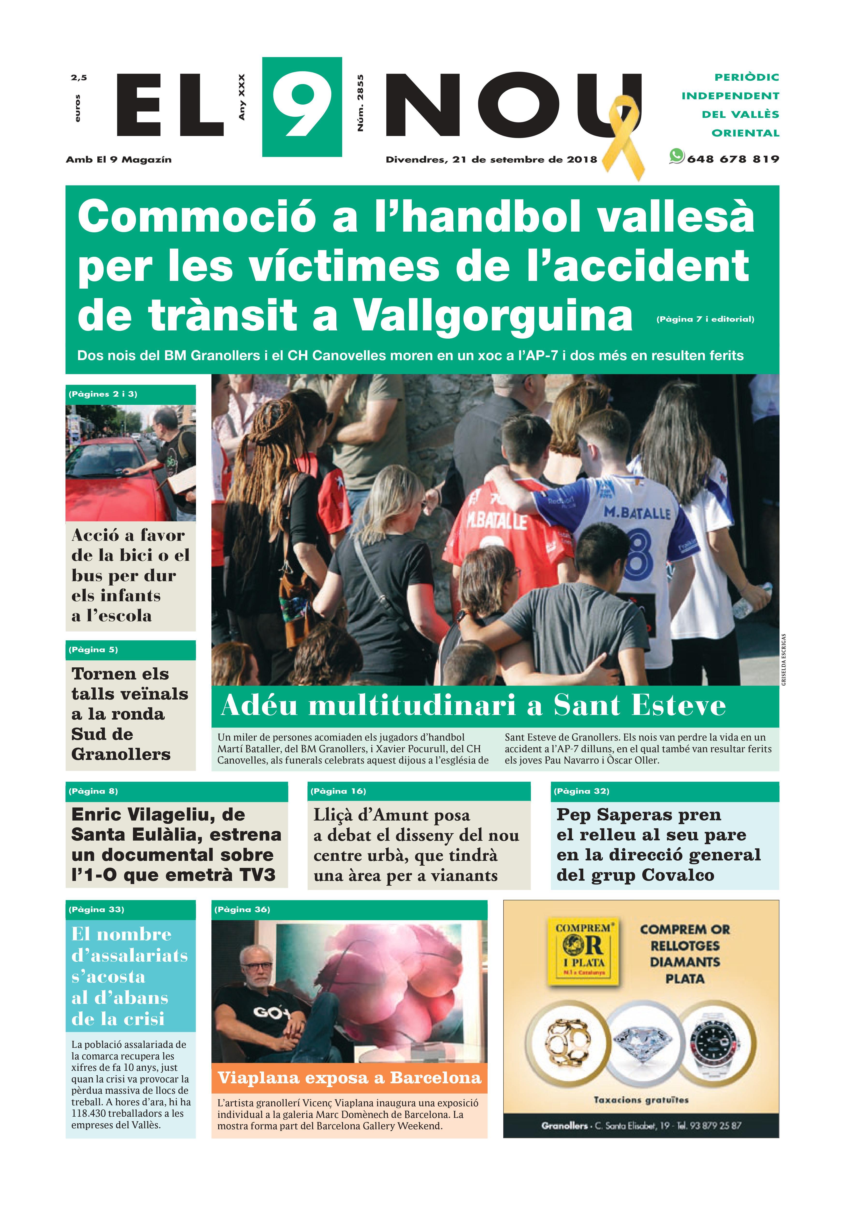 Primera plana EL 9 NOU 21_09_18 Vallès