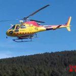 L'helicòpter dels GRAE ha rescatat la noia