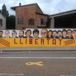 El mural un cop acabat que l'alcalde ha amenaçat amb tapar