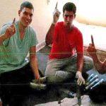 Mohamed Houli, Youssef Aalla i Younes Abouyaaqoub durant la fabricació dels explosius a Alcanar
