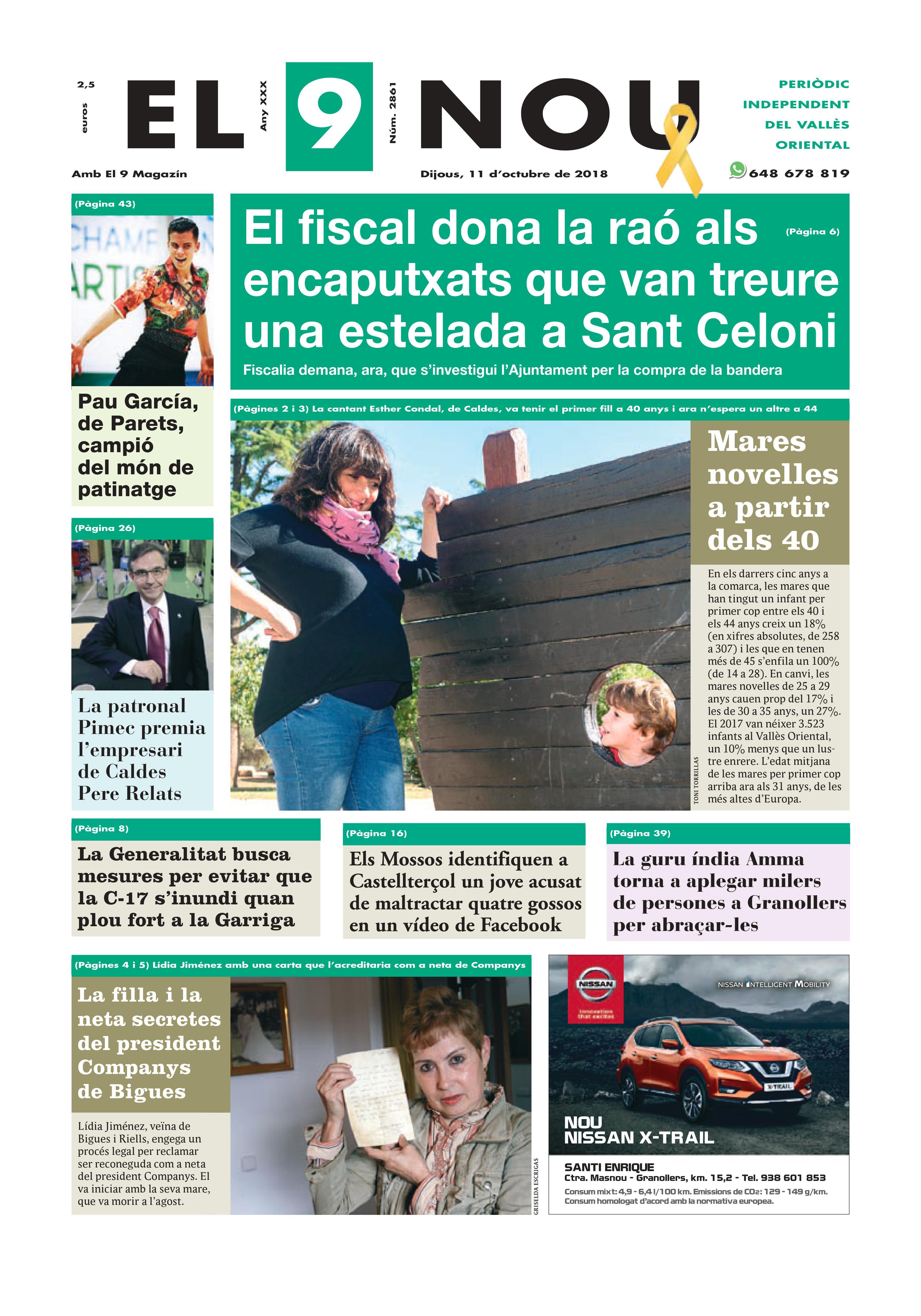 Primera plana EL 9 NOU 11_10_18 Vallès