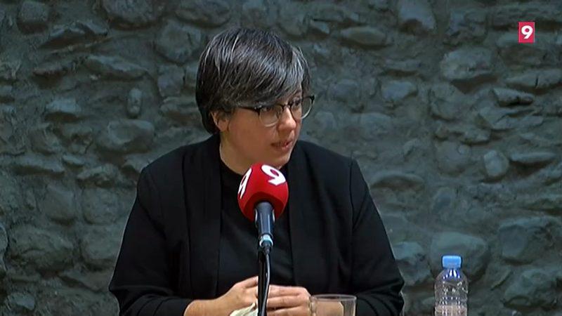 Mireia Boya, dimarts, al Club de Premsa d'EL 9 NOU