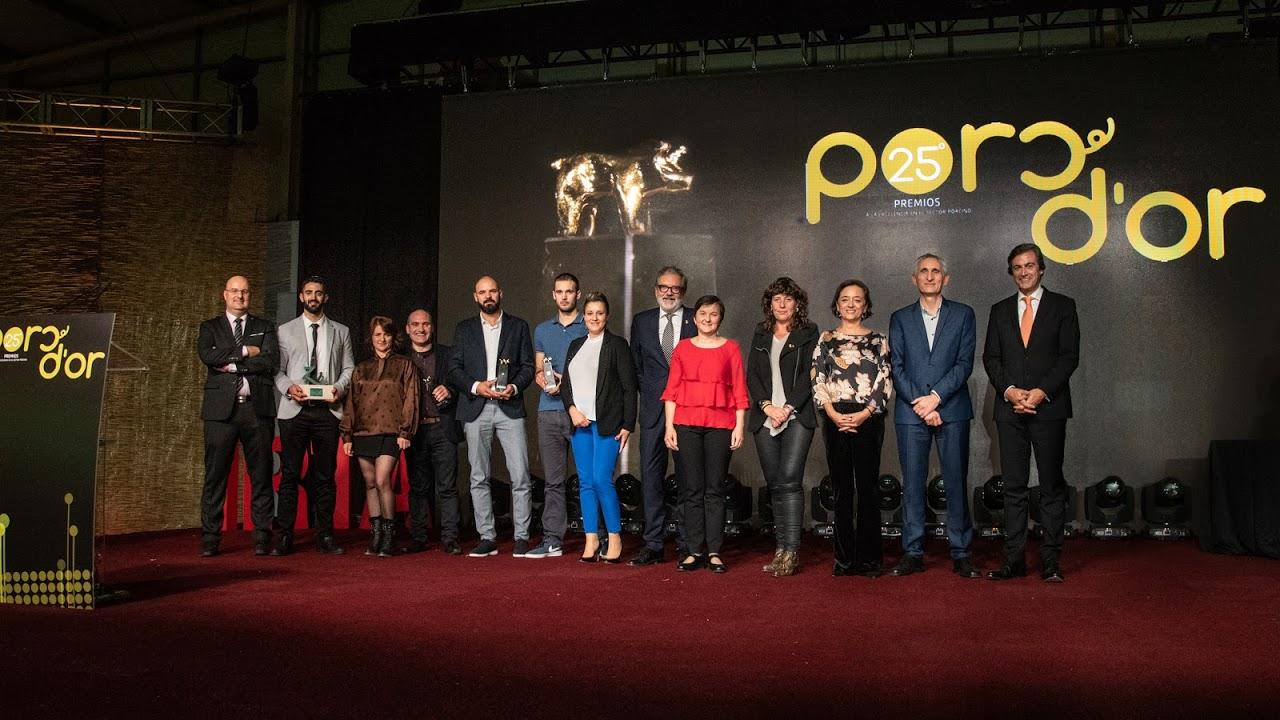 Els premiats als Porc d'Or, a l'acte de Lleida