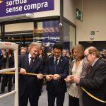 El conseller Calvet, els germans Font i l'alcaldessa de Sant Cugat inaugurant un nou Esclat