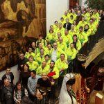 Els homenatjats, a l'Ajuntament de Vic