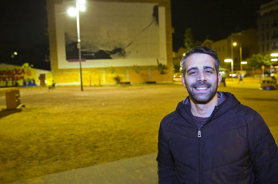 Arnau Martí a la plaça de la Noguera