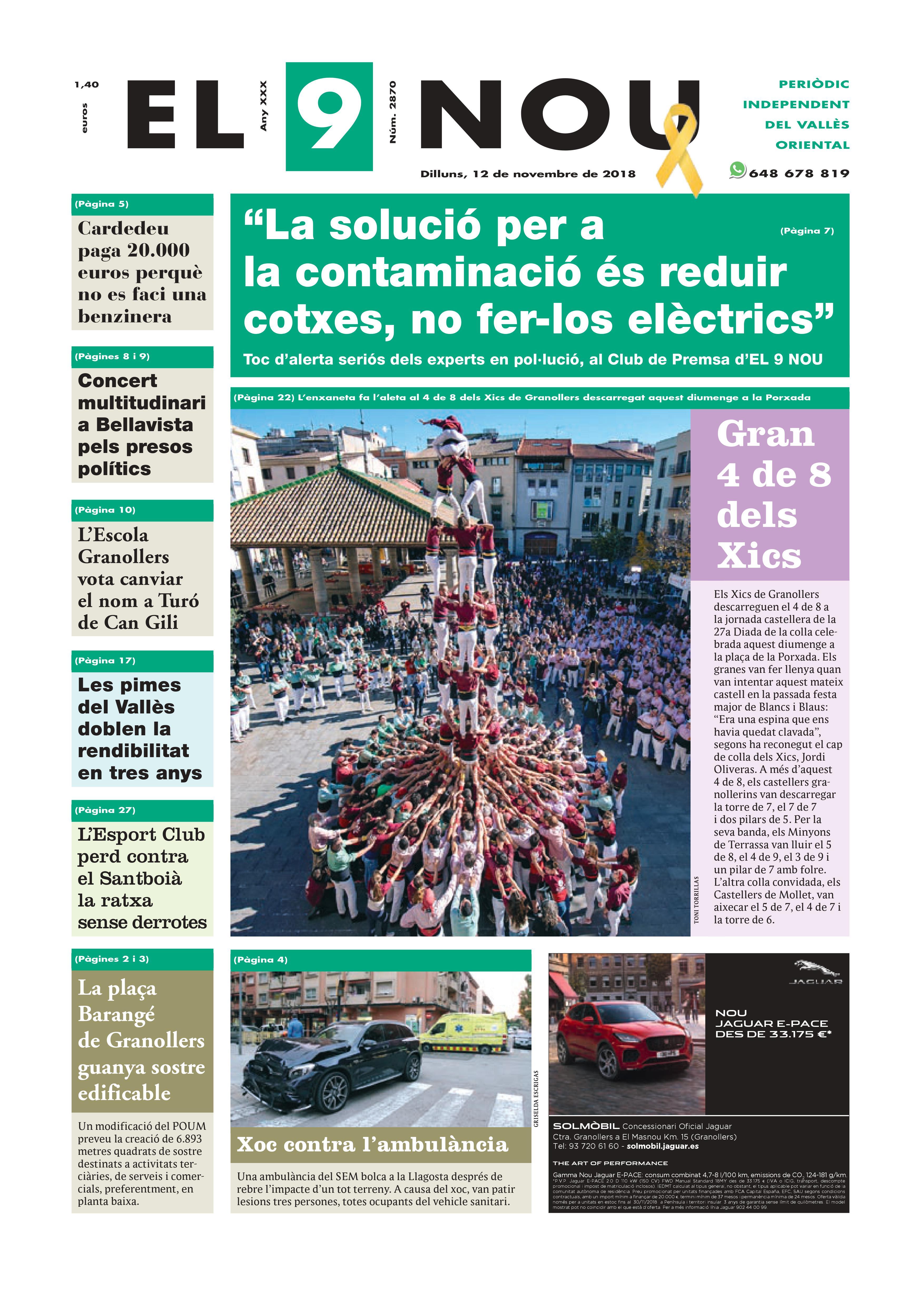 Primera plana EL 9 NOU 12_11_18 Vallès