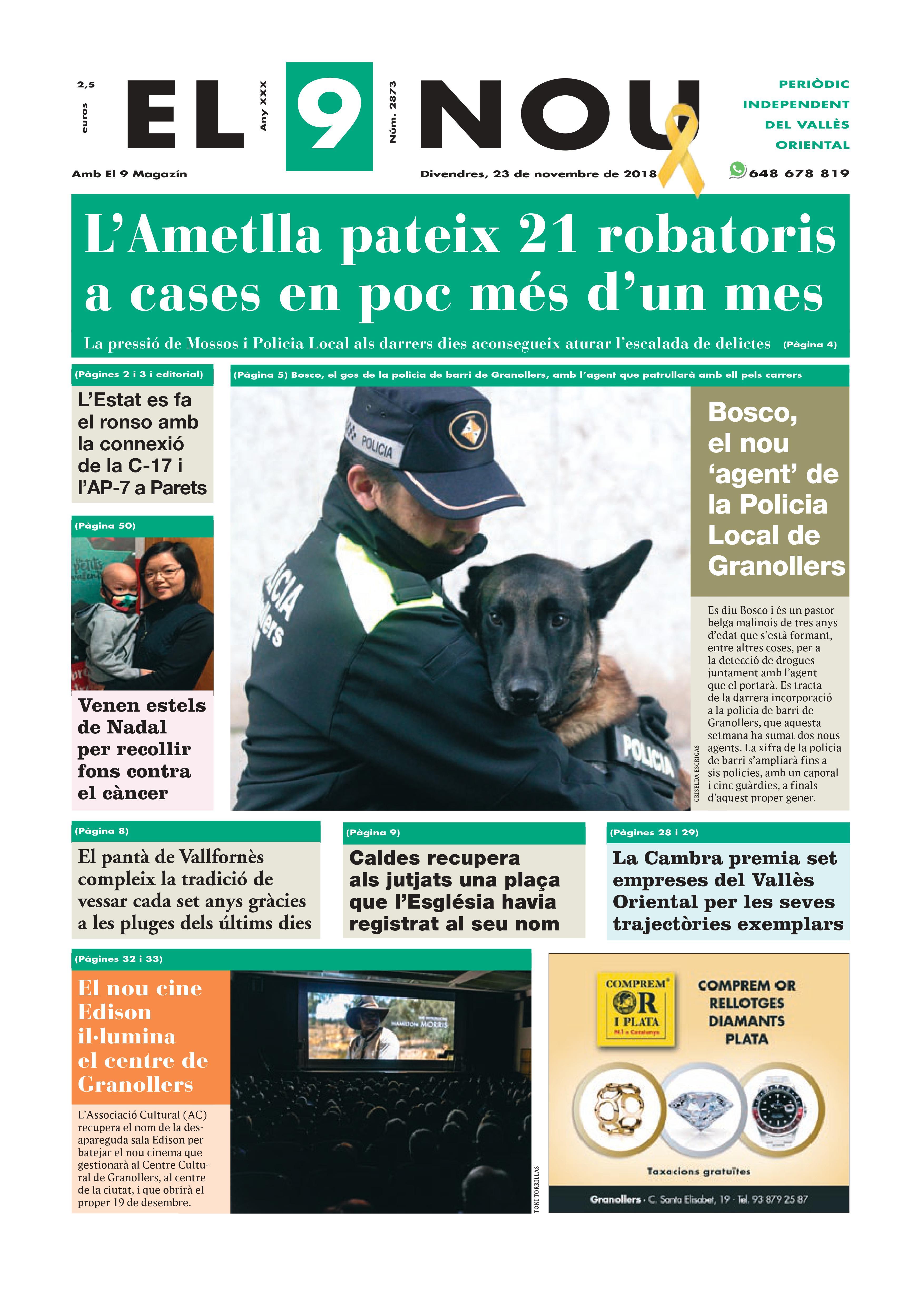 Primera plana EL 9 NOU 23_11_18 Vallès