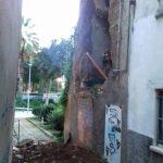 La façana ensorrada poc després dels fets