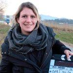 Clara Roquet durant el rodatge d'El Adiós, el seu primer curtmetratge
