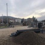 Construcció del pàrquing de Campdevànol