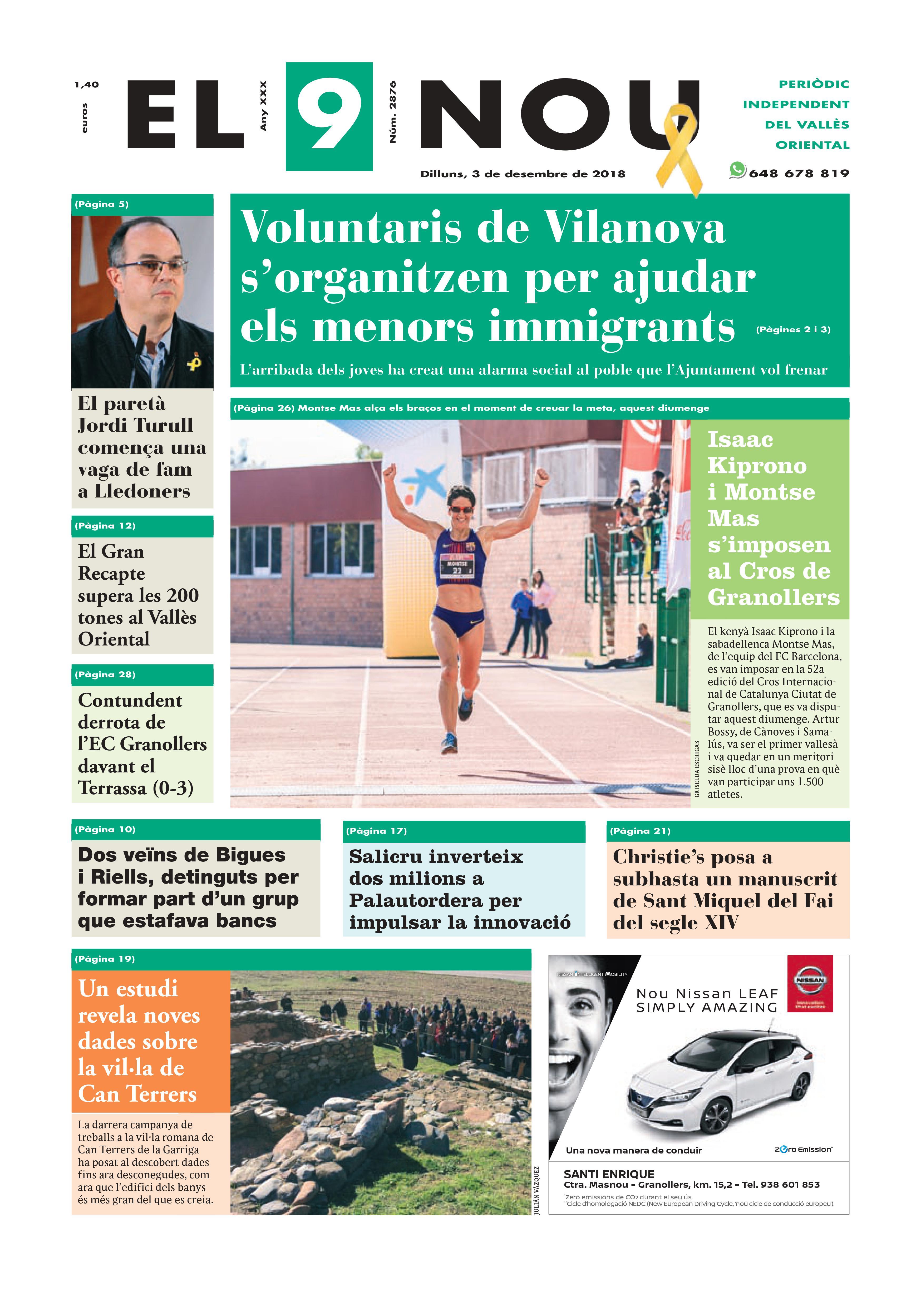 Primera Plana EL 9 NOU 03_12_18 Vallès