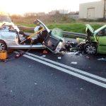 Els dos vehicles implicats en l'accident d'aquest dilluns