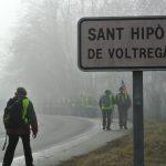 El participants a l'etapa de dimarts al seu pas pel Voltreganès