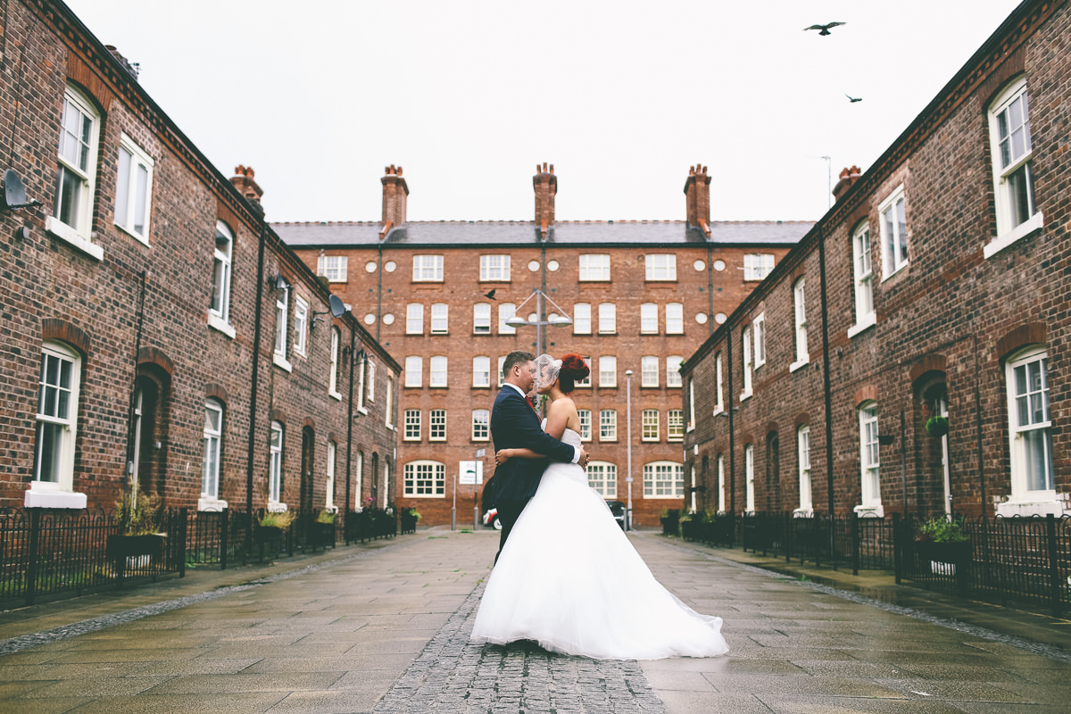 Rainy Manchester Wedding Portraits