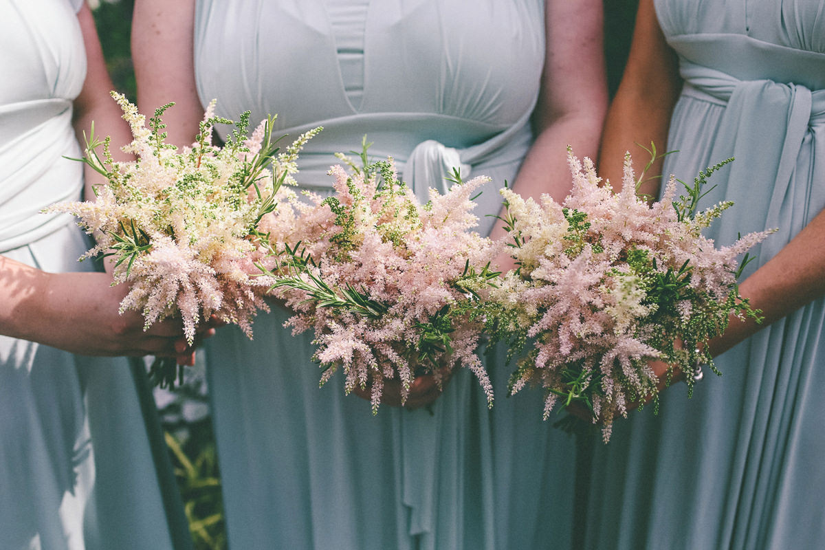 Grass and Herb Wedding Bouquet