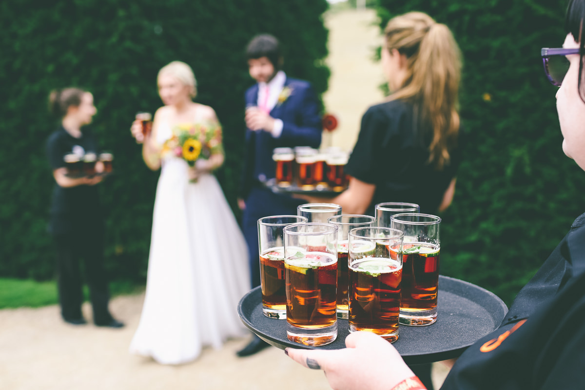 Drinks Reception Yorkshire Sculpture Park Wedding