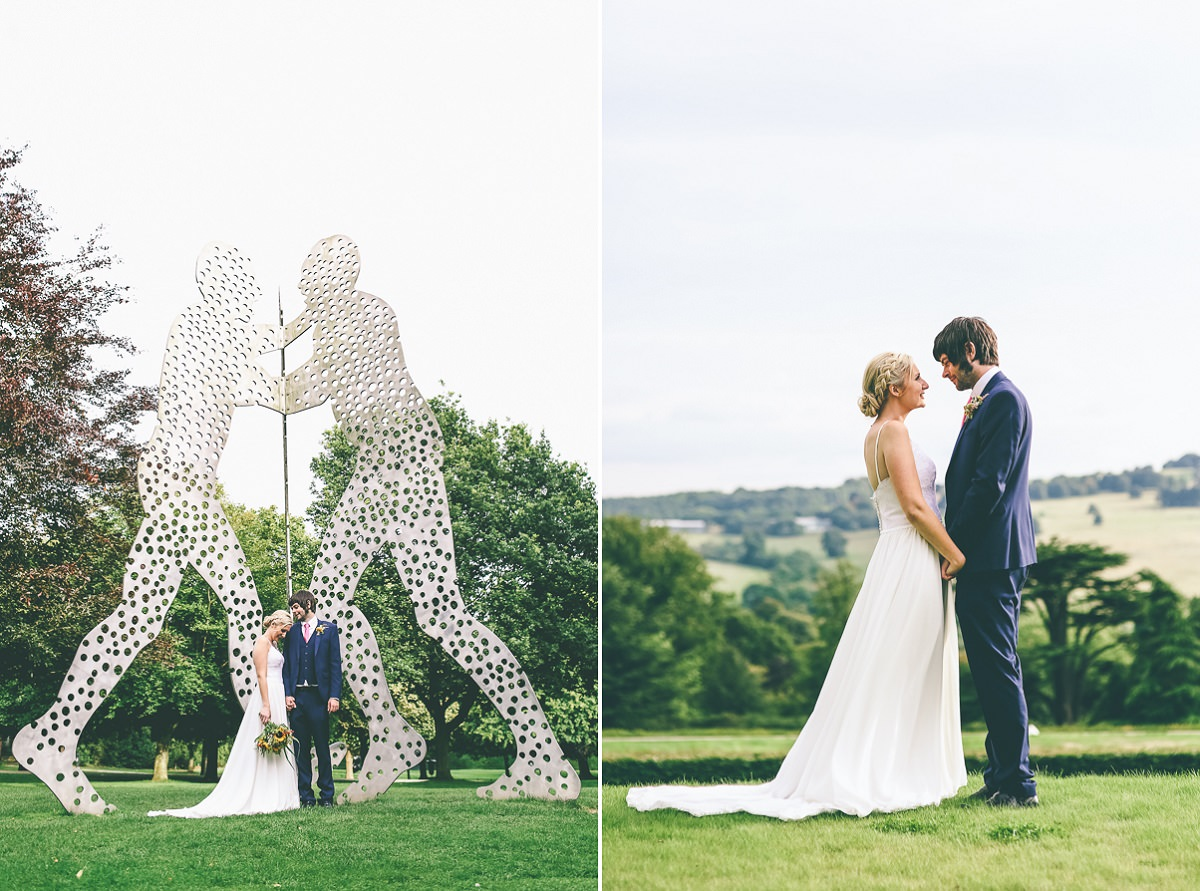 Yorkshire Sculpture Park Wedding Portraits