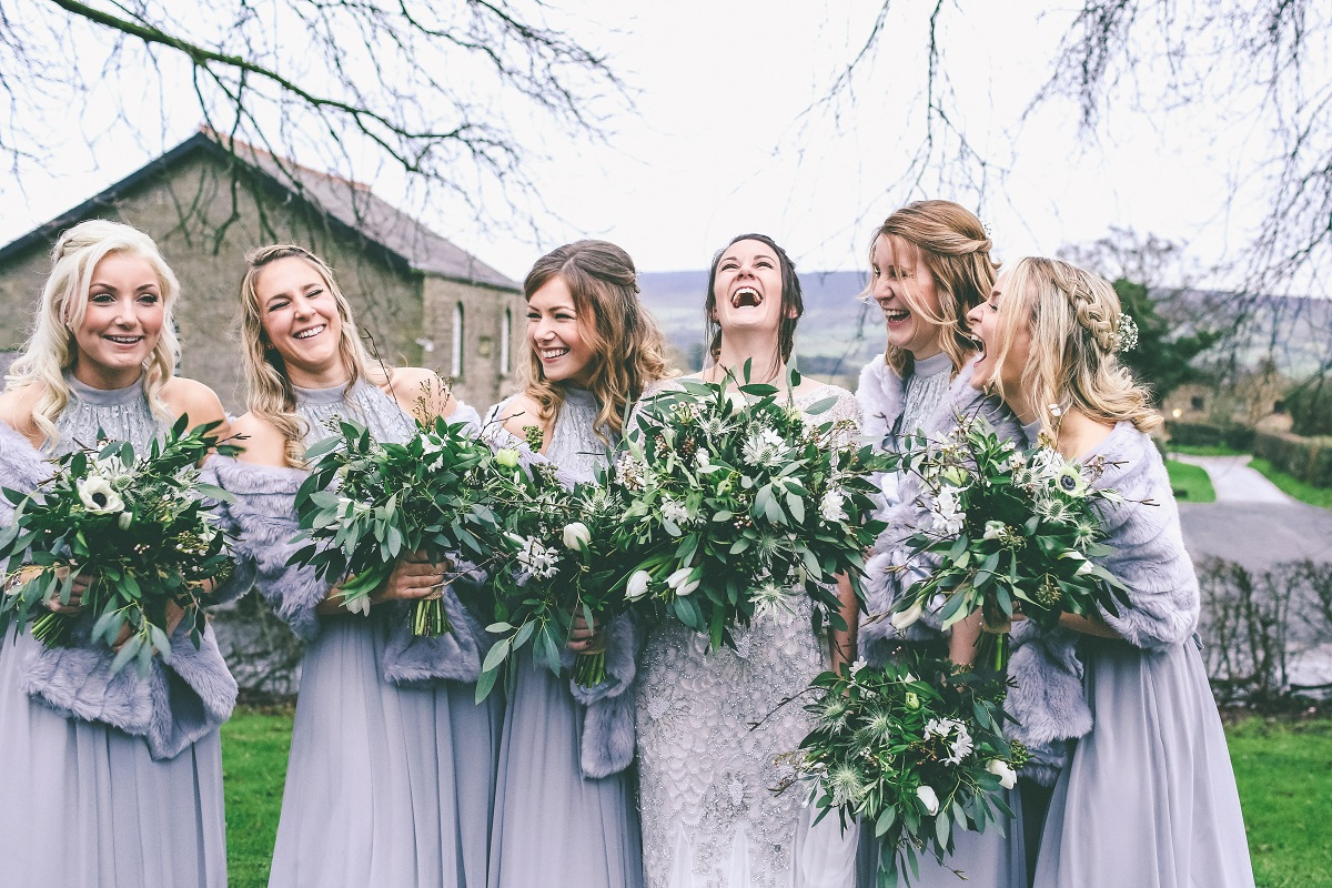 Bridal Party Winter Wedding