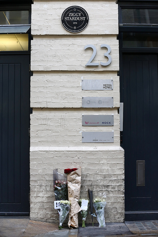 Londoners Pay Tribute to David Bowie