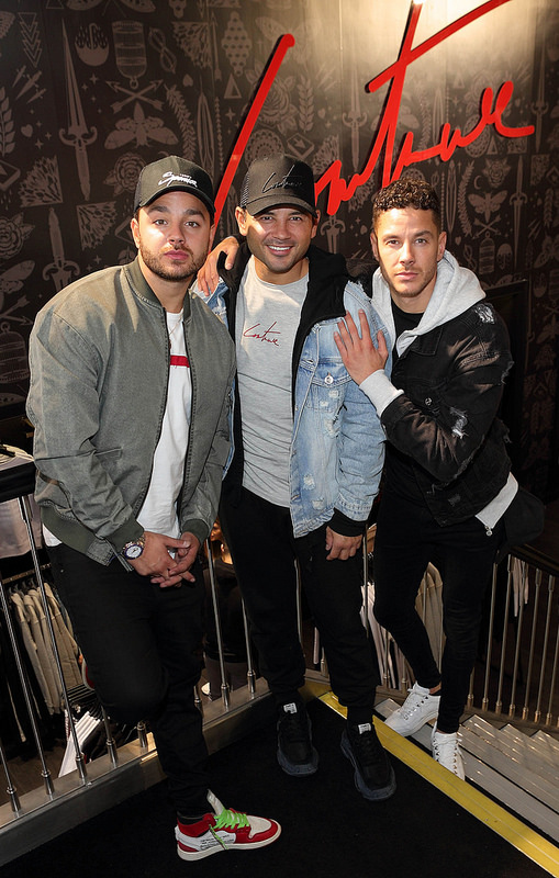 Celebrity Big Brother Winner Ryan Thomas with brothers Adam and Scott at The Couture Club Dundrum