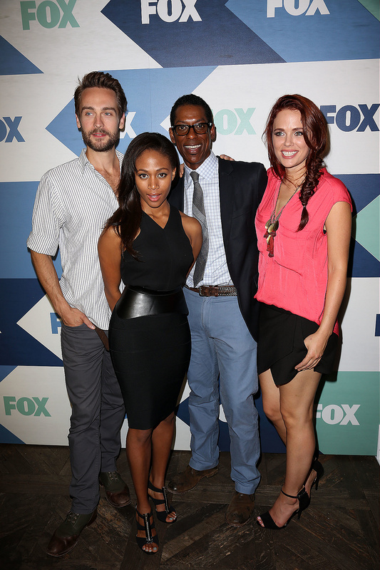 The cast of New Girl, Bones, X Factor US and more at Fox network party