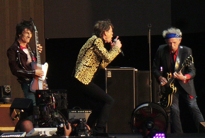 The Rolling Stones performing at their final concert of their tour