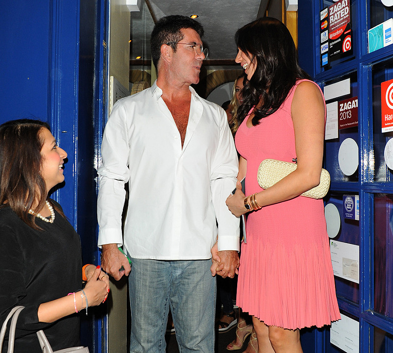 Simon Cowell With Lauren Silverman